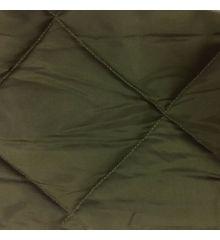 15cm Diamond Nylon Quilt - Olive Green