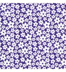 White Flowers Polycotton Print (6506)