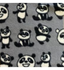 Printed Anti-Pil Fleece - Pandas