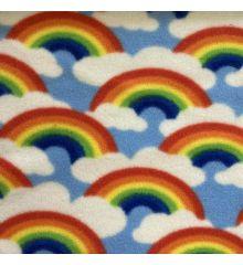Printed Anti-Pil Fleece - Rainbows