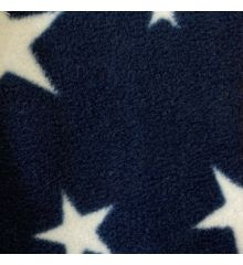 Printed Anti-Pil Polar Fleece Fabric 20+ Designs-Stars - Navy