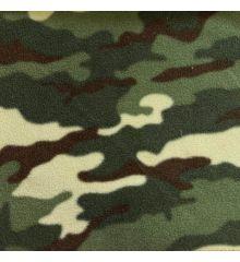 Printed Anti-Pil Fleece - Green Camouflage