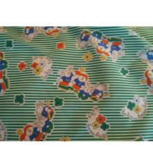 Baby Baseball Stripe Printed Polycotton