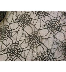 Glitter Spider Web Lace-Black