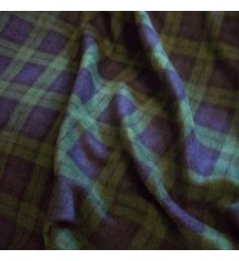 Black Watch Tartan Printed Polar Fleece
