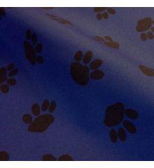 Paw Print Waterproof Outdoor PVC-Blue