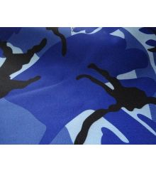 Camouflage PVC Backed Waterproof Outdoor Furnishing-Blue