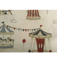 Blue Fryett's Funfair 100% Cotton Fabric