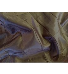 Brown Diamond Stitched Nylon Taffeta