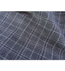 Grey Sharkskin Brushed Cotton Check