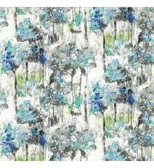 Camden Floral Slub Linen Curtain Fabric