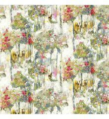 Camden Floral Slub Linen Curtain Fabric-Pastel