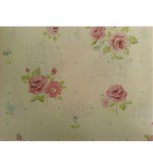 Fryetts Petite Fleur 100% Cotton Upholstery Fabric-Pink