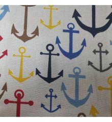 Nautical Anchor Cotton Canvas
