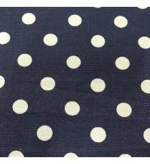 Spot Cotton Canvas-Navy Blue