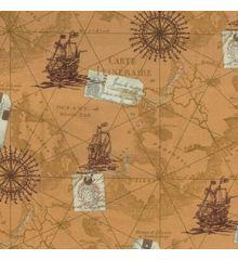Carta Printed Cotton Poplin