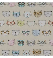 Fryetts Cool Cats 100% Cotton Fabric