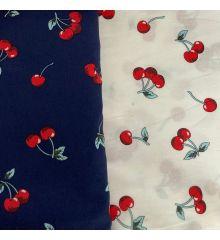 Cherries 100% Cotton Poplin