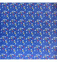 Christmas Polycotton Crafting Fabric 112cm Wide 40+ Designs-Christmas Lights - Blue