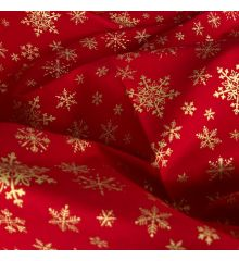 Golden Snowflakes - Red