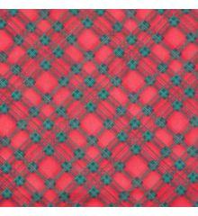 Christmas Polycotton Crafting Fabric 112cm Wide 40+ Designs-Christmas Tartan - Red