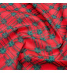 Christmas Polycotton Fabric - Christmas Tartan