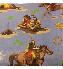 Clarke & Clarke Cowboys and Indians PVC Oilcloth
