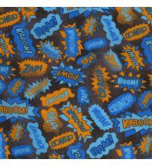 Comics Children's Polycotton Fabric-Blue