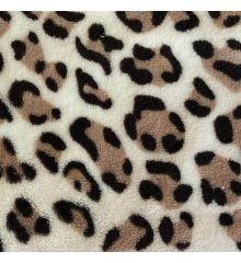Cosy Soft Coral Fleece - Leopard Spots-Brown
