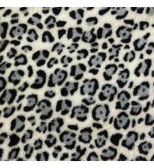 Cosy Soft Coral Fleece - Leopard Spots-Grey