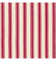 Defined Stripe Cotton Poplin-Red