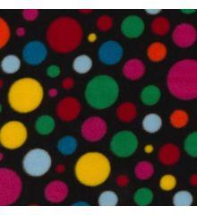 Crazy Dot Antipil Polka Fleece