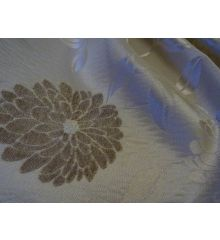 Cream Floral Curtain Fabric