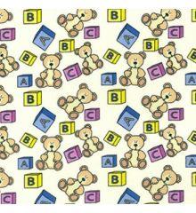 Kids Toys Polycotton Print-Cream #FFFDD0