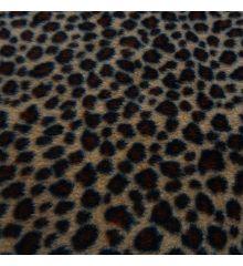 Dark Leopard Printed Polar Fleece (6163)