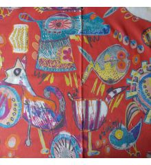 Desert Half Panama Cotton Curtain Fabric