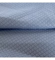 Diamond Quilted Stretch Jersey - Sky Blue