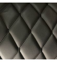 Diamond Quilted Leatherette With Foam Backing-Black