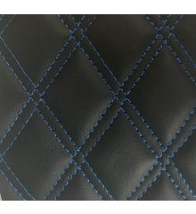 Diamond Quilted Leatherette With Foam Backing-Blue