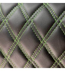 Diamond Quilted Leatherette With Foam Backing-Green