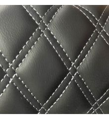 Diamond Quilted Leatherette With Foam Backing-White