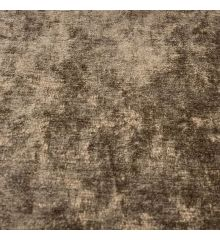Distressed Velvet Fire Retardant Upholstery Fabric-Brown
