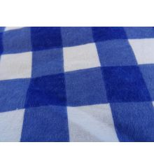 Brushed Cotton Gingham-Royal Blue