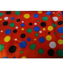 Multi Colour Spot Satin