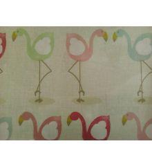 Fryetts Flamingo PVC Coated Tablecloth Fabric