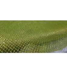 Glitter Mesh Fabric Material for Costume Craft Art Bright Colours-Green