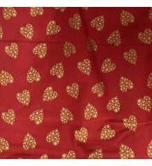 Golden Hearts Christmas Cotton Poplin