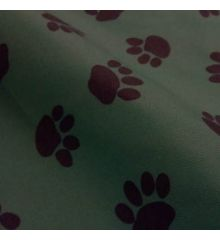 Paw Print Waterproof Outdoor PVC-Green