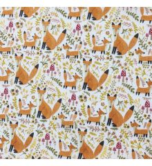 Happy Foxes Polycotton