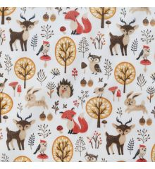 Forest Animals Polycotton